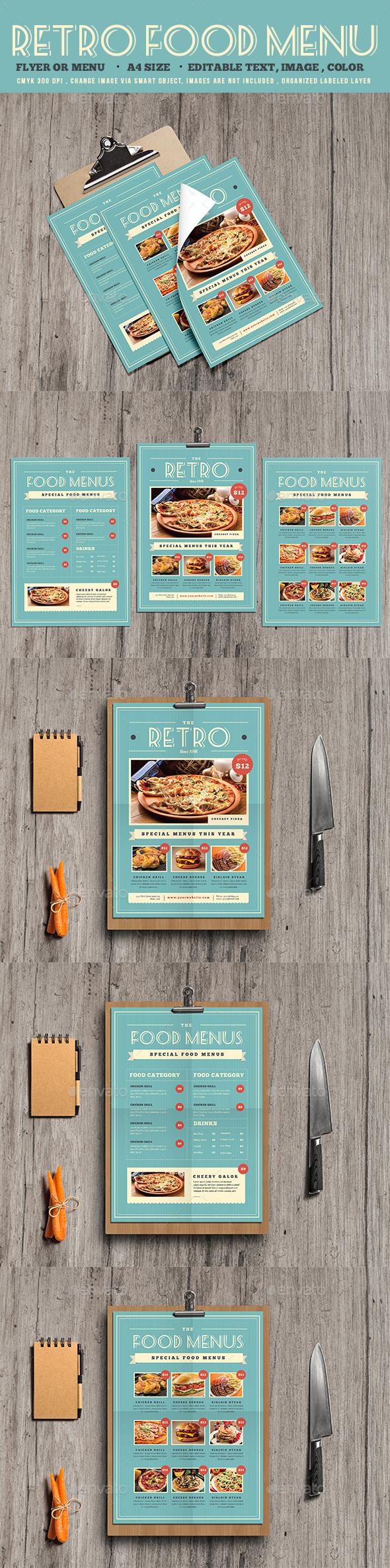 Retro Food Menu Flyer