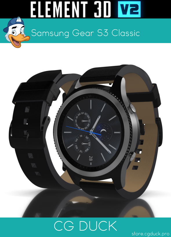 Samsung Gear S3 Classic for Element 3D - 3DOcean Item for Sale
