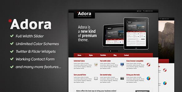 ThemeForest Adora Premium Business & Portfolio Template 166028