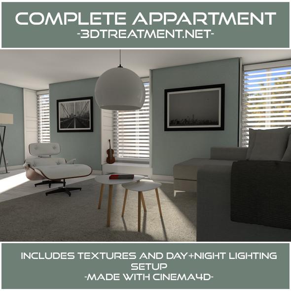 Complete Livingroom Appartment - 3DOcean Item for Sale