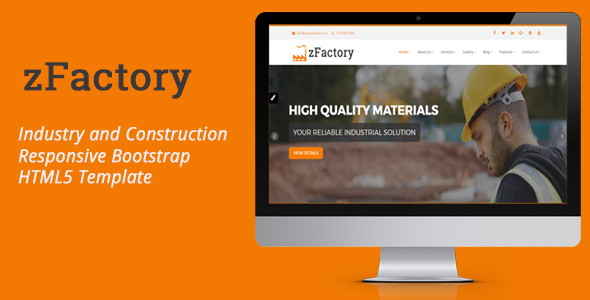 Download zFactory - Industry and Construction Responsive Bootstrap HTML5 Template