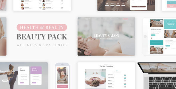 Wellness Beauty - Wellness Center PSD Template