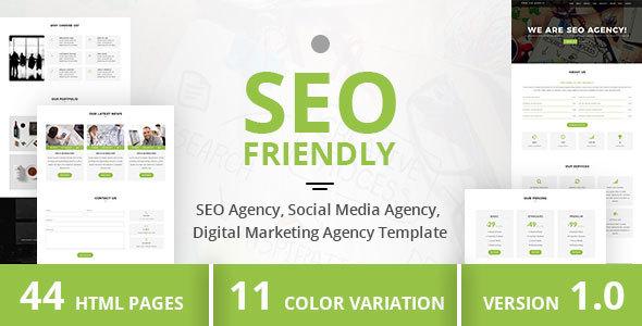 Download SEO Friendly - SEO Agency, Social Media Agency, Digital Marketing Agency Template