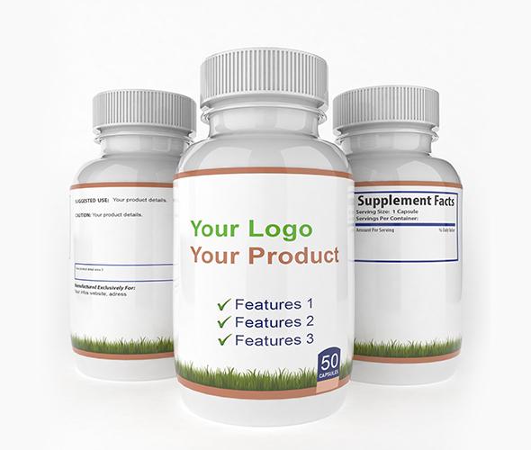 3 Side Medicine Bottle 3d V4 - 3DOcean Item for Sale