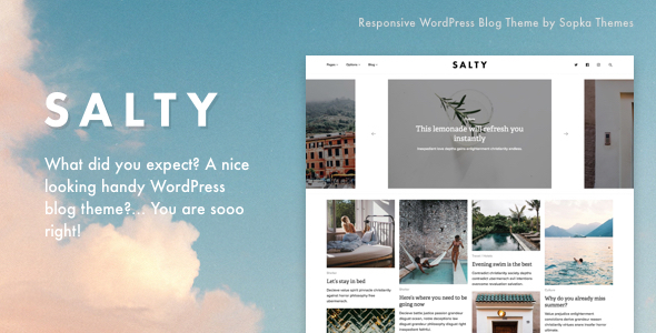 Salty - Responsive WordPress Blog Theme