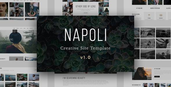 Download Napoli - Modern Photography Portfolio Responsive HTML Template