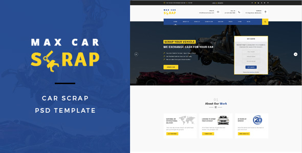 Car Scrap - PSD Template