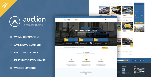 Auction - Car Dealer WordPress Theme