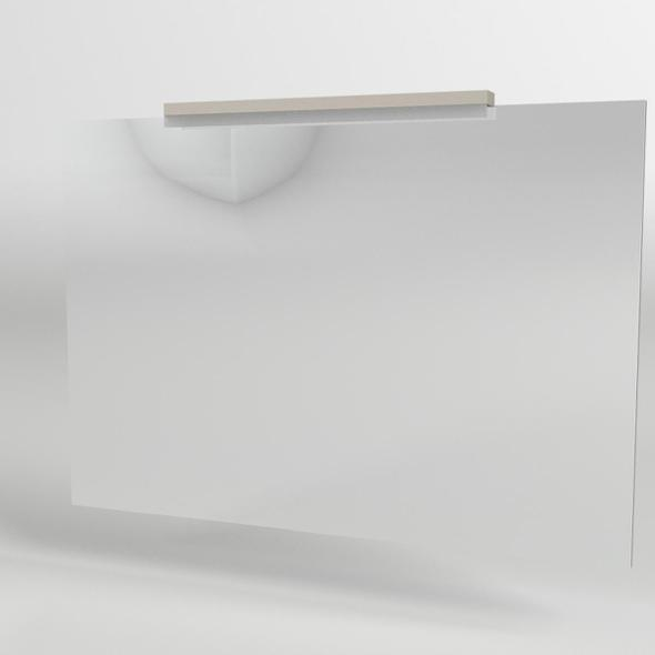 Bathroom Mirror with Neon Light - 3DOcean Item for Sale