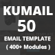 Kumail - 50 Email Template (400+ Modules) + Stampready Builder