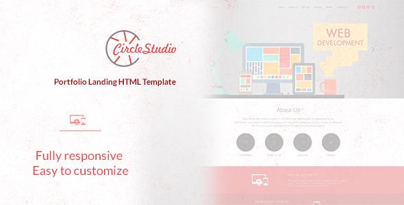 Circle Studio – Portfolio Landing HTML Template (Portfolio)