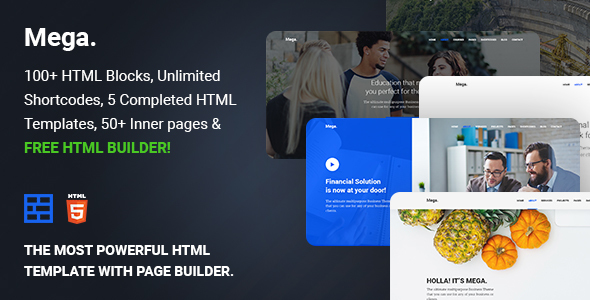 Mega - Multipurpose HTML5 template with builder