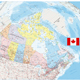 Giant Detailed Political Map of Canada with Cities and Towns