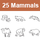 Mammals I Outlines vector icons