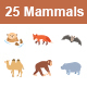 Mammals I Color vector icons