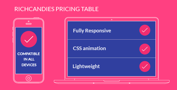 CodeCanyon RichCandies Pricing Table 17442527