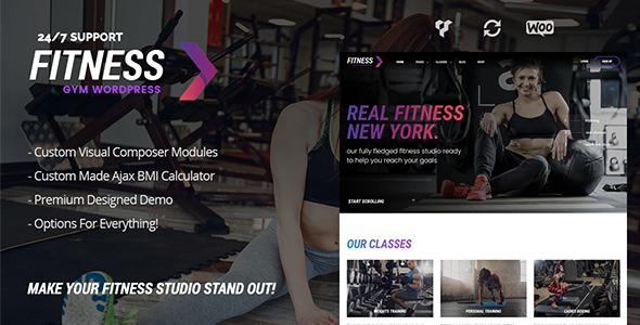 Download Fitness Gym – Fitness WordPress Theme for Fitness Clubs, Gyms & Fitness Studios
