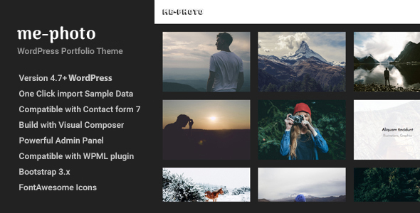 Download Mephoto - Photography & Portfolio WordPress Theme