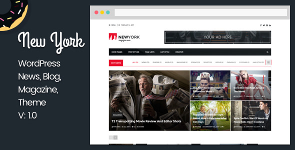Download New York 51 - Responsive Blog WordPress Theme