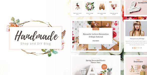 Handmade Shop - Handicraft Blog & Creative Shop WordPress Theme