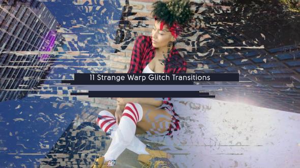 VideoHive 11 Strange Warp Glitch Transitions 19551627