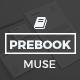 Prebook - eBook Landing Page Muse Template