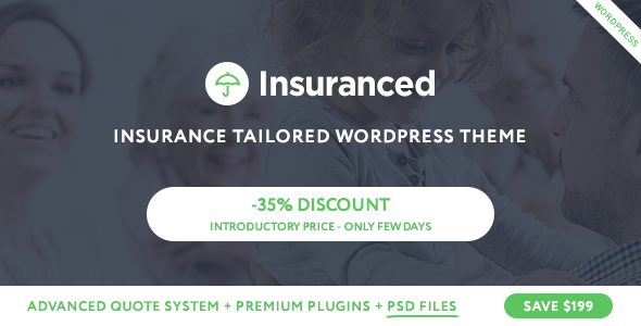Insuranced -  Insurance Agency WordPress Theme