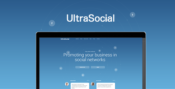 UltraSocial - Social Media Marketing Onepage / Landing Page Template