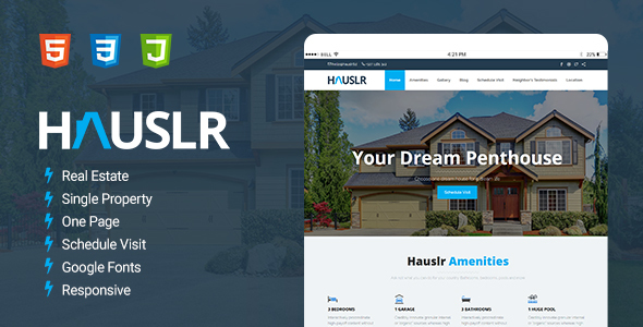 Download Hauslr - Single Property Modern HTML Template