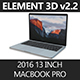 Element3D 2016 MacBook Pro 13""