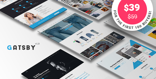 Gatsby - WordPress + eCommerce Theme