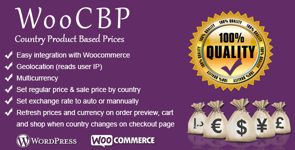 WooCBP Country Product Based Prices - WooCommerce WordPress Plugin