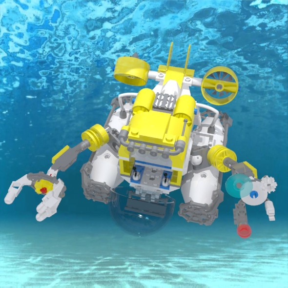 LEGO submarine - 3DOcean Item for Sale