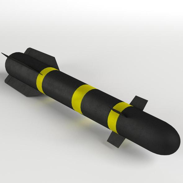 AGM-114 Hellfire Missile - 3DOcean Item for Sale
