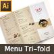 Thai Menu Tri-fold Brochures
