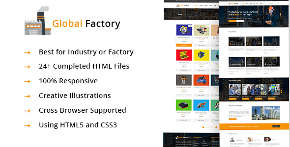Global Factory- Minimal factory & industry HTML5 Template