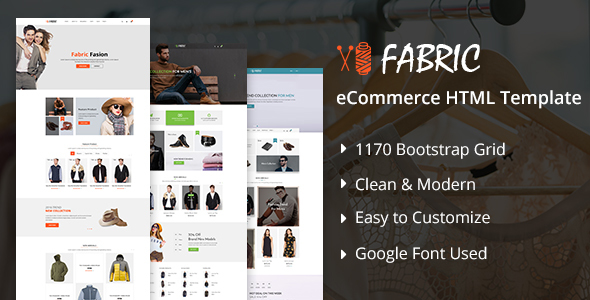 Image of Fabric eCommerce HTML5 Template