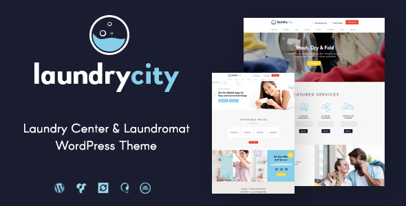 Фото Шаблон Wordpress  Laundry City | Dry Cleaning & Laundry Service — laundry preview.  large preview