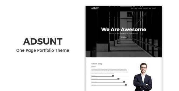 Adsunt - Personal Portfolio WordPress Theme