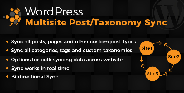 WordPress Multiste Posts &amp Taxonomies Sync (Utilities)