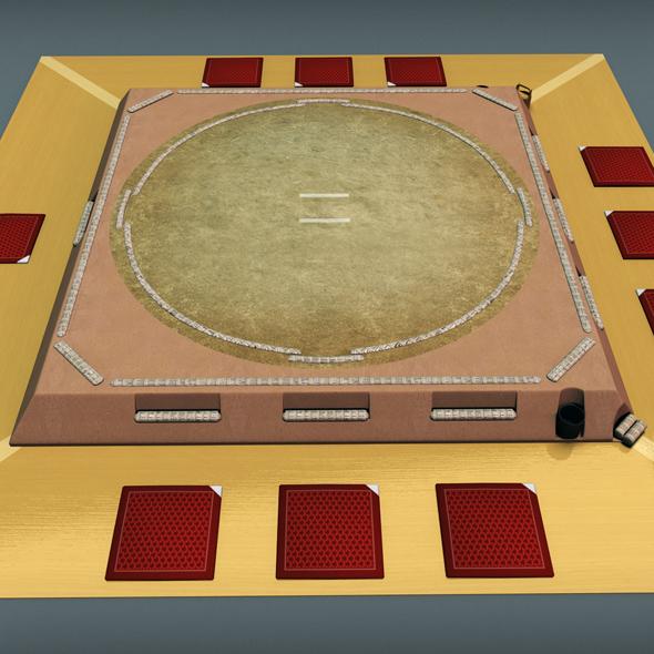 Sumo ring dojo sport - 3DOcean Item for Sale