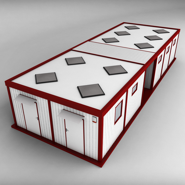 Container Double Shipping House - 3DOcean Item for Sale