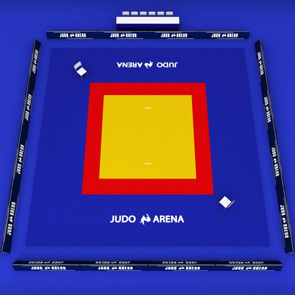 3DOcean Judo tatami sport arena low poly 19557666