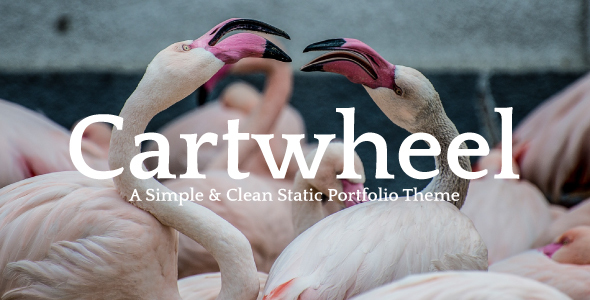 Cartwheel - A Simple & Clean Static Portfolio Theme