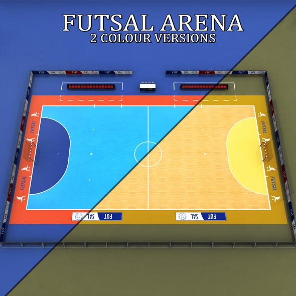 Futsal court arena soccer - 3DOcean Item for Sale