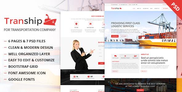 Tranship - Shipping / Logistics / Transportation / Business PSD Template