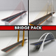 Suspended bridge pack collection