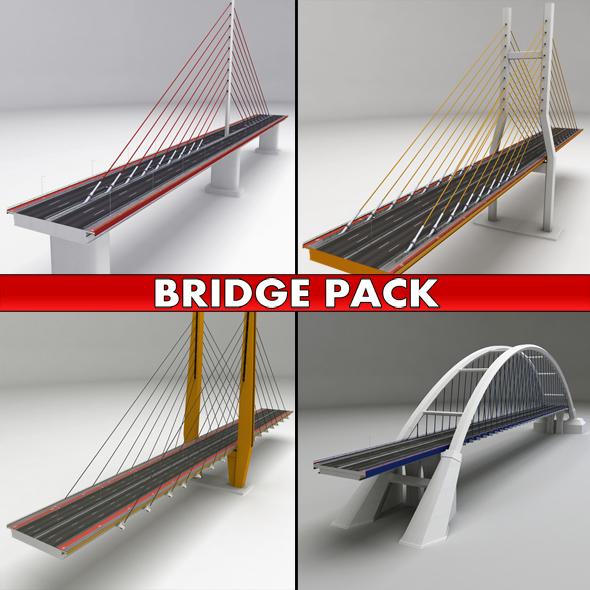 Suspended bridge pack collection - 3DOcean Item for Sale
