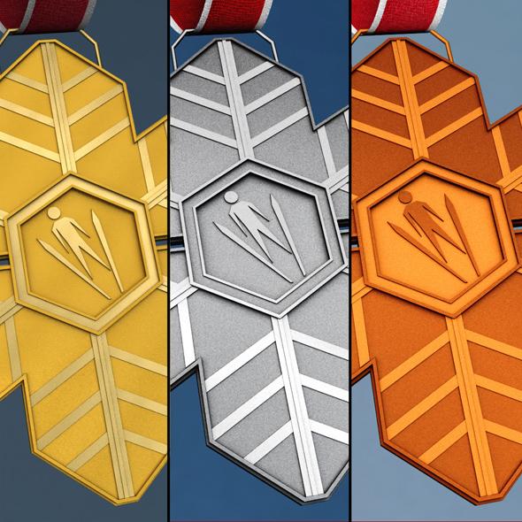 Sport winter medal pack - 3DOcean Item for Sale