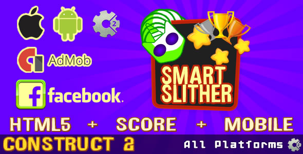 Download Smart Slither (Admob Ads supported & FaceBook)